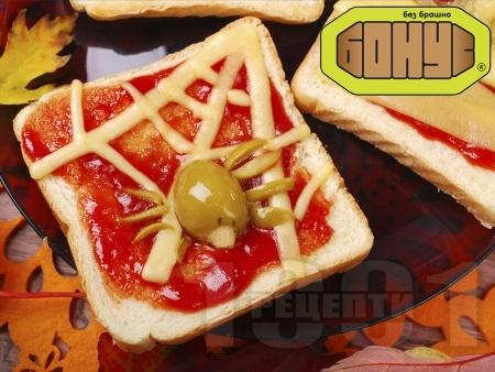 Страшен сандвич за Хелоуин - снимка на рецептата